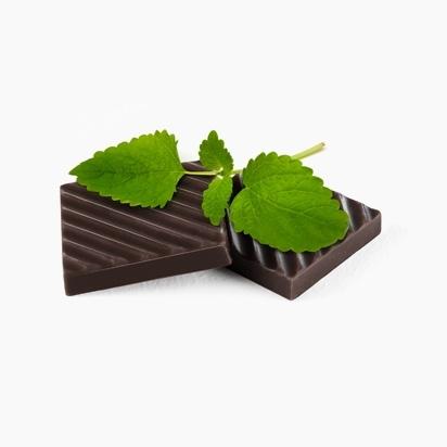 Черный шоколад с мятой