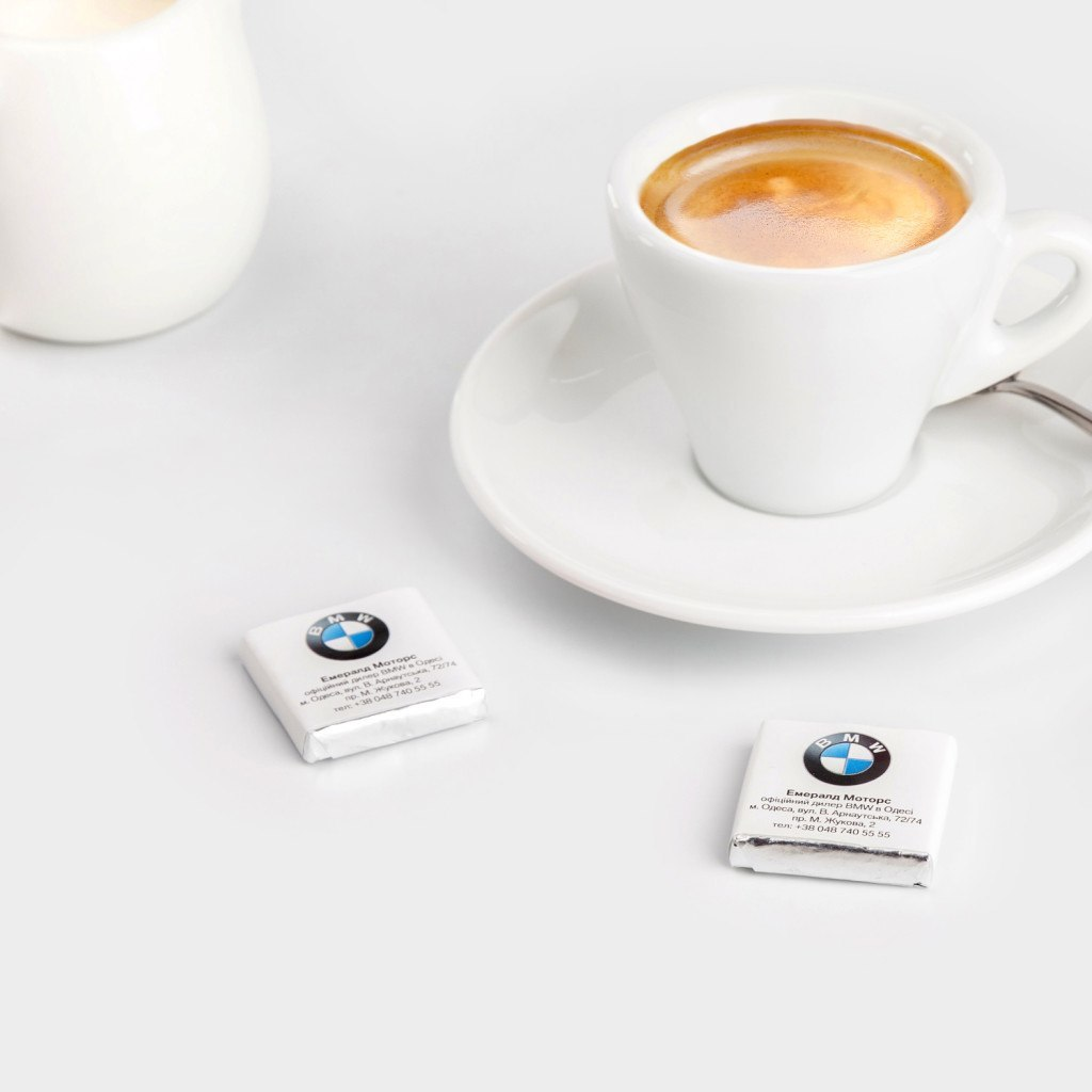 Минишоколадки, 5г для клиента BMW